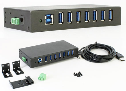 CTFINDUSB-3 (Automotive/Industry 7-port USB 3.0 Hub, 9-24VDC)