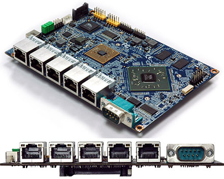 VIA VB9001 3.5-SBC (1.06GHz VIA Eden X1, 1GB RAM, 5x Gigabit LAN) [<b>FANLESS</b>]